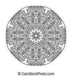 Aztec frog mandala