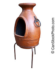 Aztec furnace for the terasse, decoration