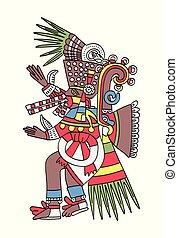 Aztec god Tezcatlipoca, the Smoking Mirror - Tezcatlipoca,...