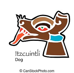 Aztec Itzcuintli-Dog Icon - Vector Aztec Itzcuintli-Dog Icon