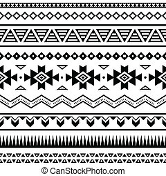 Vector seamless aztec ornament, ethnic pattern