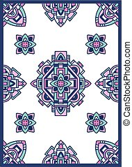 Aztec Navajo Indian carpet pattern grunge vector illustration