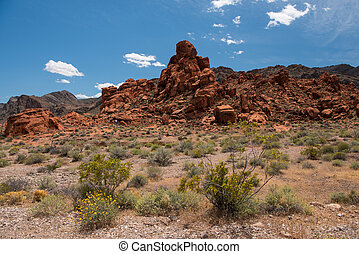 Aztec Sandstone Rock Formation in Valley of Fire State Park