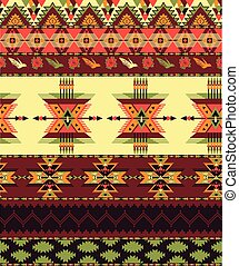 Aztec seamless pattern - Bright decorative geometric pattern...