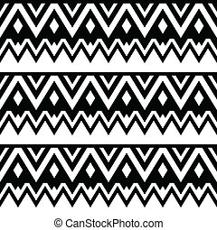 Aztec seamless pattern, tribal - Vector seamless trditional...