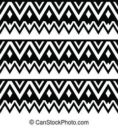 Aztec seamless pattern, tribal