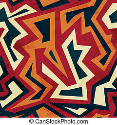 aztec seamless pattern with glass effect