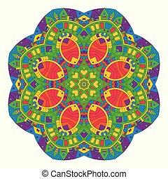 aztec style mandala design 1707
