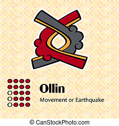 Aztec symbol Ollin - Aztec calendar symbols - Ollin or...