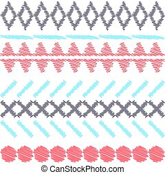 aztekisch, ethnisch, stammes-, seamless, pattern.