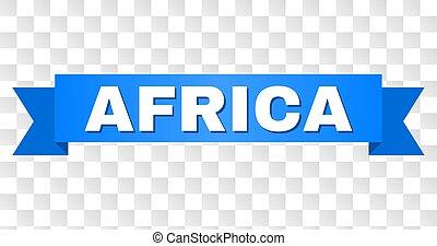 azul, áfrica, fita, título