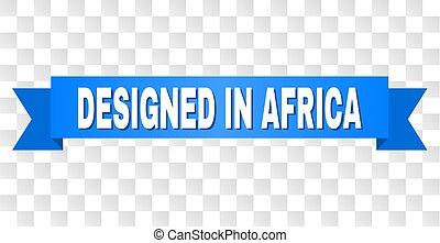 azul, áfrica, projetado, fita, título