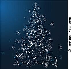 azul, árvore natal