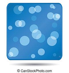 azul, ícone