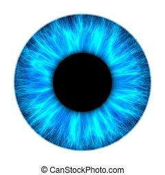 azul, íris