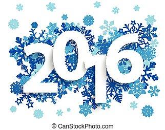 azul, 2016, snowflakes