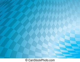 azul, a cuadros
