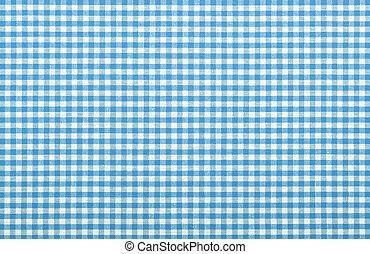 azul, a cuadros, tela