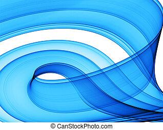 azul, abstração, dinâmico