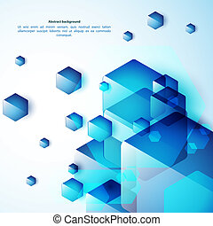 azul, abstração, fundo