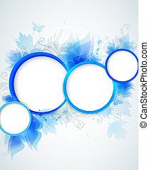 azul, abstração