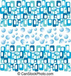 azul, abstratos, bandeira