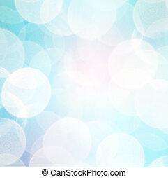 azul, abstratos,  bokeh, fundo, Inverno
