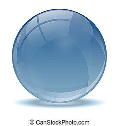 azul, abstratos, bola, 3d, ícone