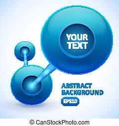 azul, abstratos, bolas, fundo