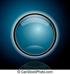 azul, abstratos, círculo, fundo