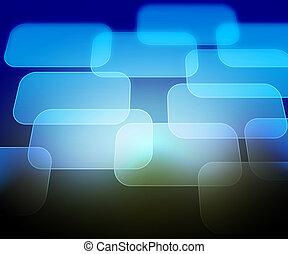 azul, abstratos, computador, fundo