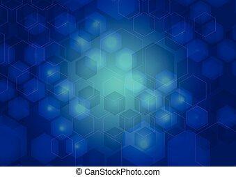 azul, abstratos, cyber, fundo
