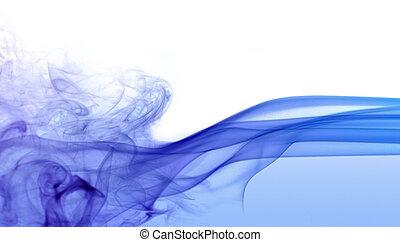 azul, abstratos, detalhe, fumaça