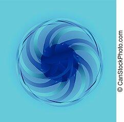 azul, abstratos, flor