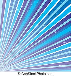 azul, abstratos, fundo, com, tiras, e, estrelas, vetorial, ilustração, eps, 10.0