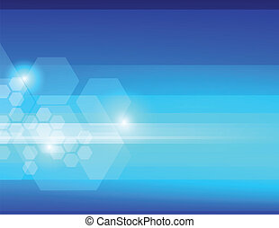 azul, abstratos, fundo, hexágonos