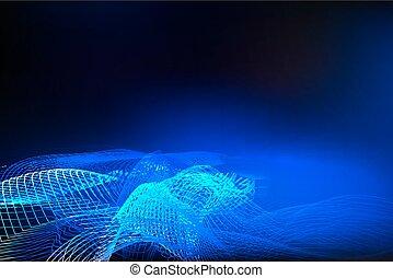 azul, abstratos, glowing, fundo