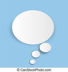 azul, abstratos, isolado, ilustração, experiência., vetorial, nuvem branca, ícone