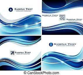 azul, abstratos, jogo, fundo