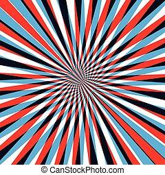 azul, abstratos, linha, fundo, vermelho
