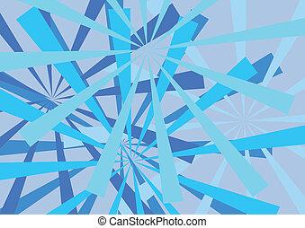 azul, abstratos, linhas