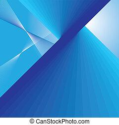 azul, abstratos, linhas, fundo