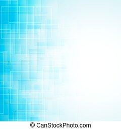 azul, abstratos, linhas, squares., vetorial, fundo, transparente