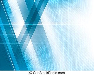 azul, abstratos, luzes, luminoso, vetorial, fundo