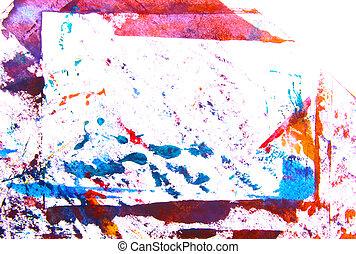 azul, abstratos, /, mão, padrões, graphics:, fundo, desenhado, branca, quadro, quadro, vermelho