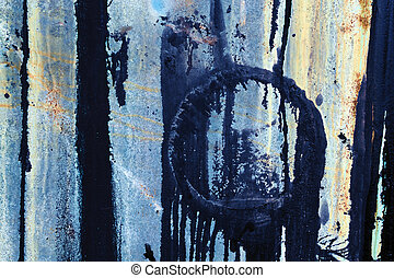 azul, abstratos, metal