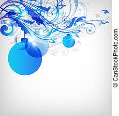 azul, abstratos, natal, fundo
