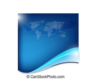 azul, abstratos, negócio, fundo