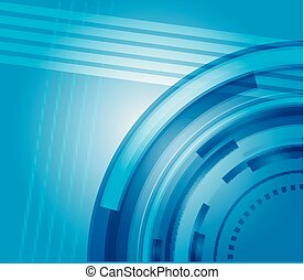 azul, abstratos, olá tecnologia, fundo