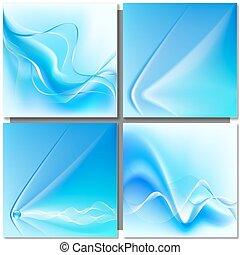 azul, abstratos, onda